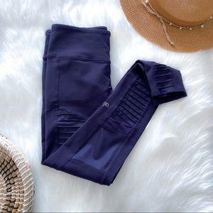 ALO High Waist Navy Blue Moto Legging yoga pants